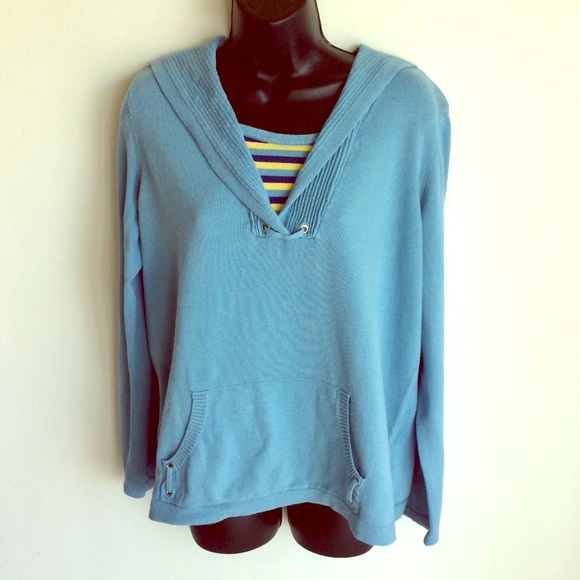 Christopher & Banks Sweaters - Christopher and Banks Blue Sailor Sweater Size XL